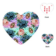 Floral Waves Playing Cards (heart)