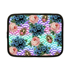 Floral Waves Netbook Case (small)