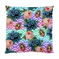 Floral Waves Standard Cushion Case (two Sides)