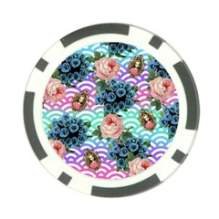 Floral Waves Poker Chip Card Guard (10 Pack)