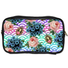 Floral Waves Toiletries Bags 2 Side