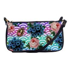 Floral Waves Shoulder Clutch Bags