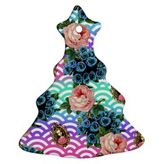 Floral Waves Ornament (christmas Tree)