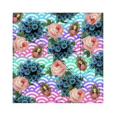 Floral Waves Acrylic Tangram Puzzle (6  X 6 )