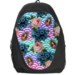 Floral Waves Backpack Bag
