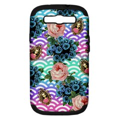 Floral Waves Samsung Galaxy S Iii Hardshell Case (pc+silicone)