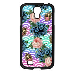 Floral Waves Samsung Galaxy S4 I9500/ I9505 Case (black)