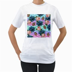 Floral Waves Women s T Shirt (white)