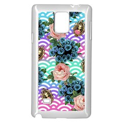 Floral Waves Samsung Galaxy Note 4 Case (white)