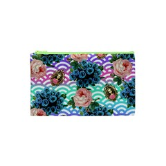 Floral Waves Cosmetic Bag (xs)