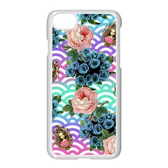 Floral Waves Apple Iphone 7 Seamless Case (white)