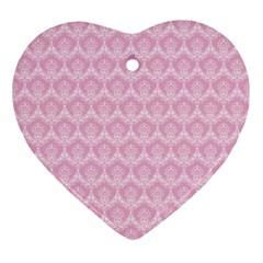 Damask Pink Ornament (heart)