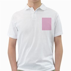 Damask Pink Golf Shirts