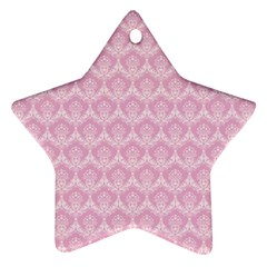 Damask Pink Star Ornament (two Sides)