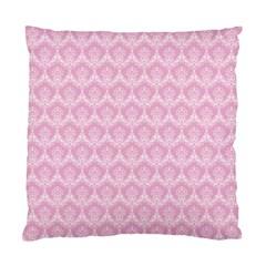 Damask Pink Standard Cushion Case (two Sides)