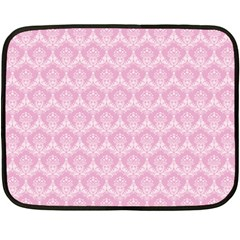 Damask Pink Double Sided Fleece Blanket (mini)