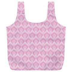 Damask Pink Full Print Recycle Bags (l)