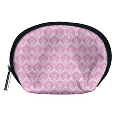 Damask Pink Accessory Pouches (medium)