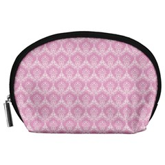Damask Pink Accessory Pouches (large)