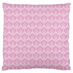 Damask Pink Standard Flano Cushion Case (one Side)