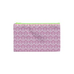 Damask Pink Cosmetic Bag (xs)