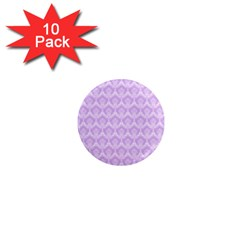 Damask Lilac 1  Mini Magnet (10 Pack)