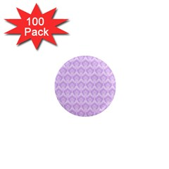 Damask Lilac 1  Mini Magnets (100 Pack)