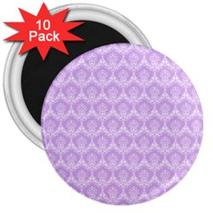Damask Lilac 3  Magnets (10 Pack)