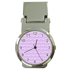 Damask Lilac Money Clip Watches