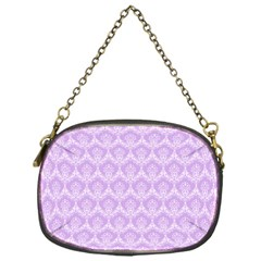 Damask Lilac Chain Purses (one Side)
