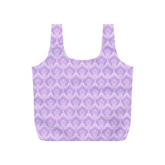 Damask Lilac Full Print Recycle Bags (s)
