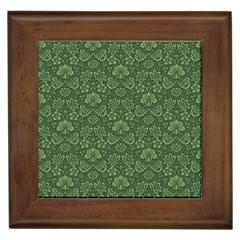Damask Green Framed Tiles