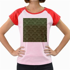 Damask Green Women s Cap Sleeve T Shirt