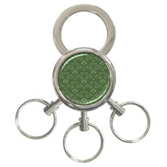 Damask Green 3 Ring Key Chains