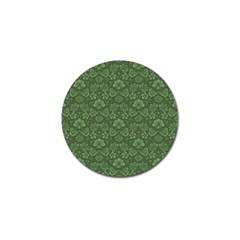 Damask Green Golf Ball Marker (4 Pack)