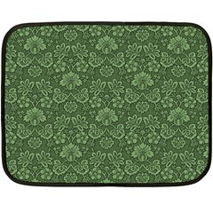Damask Green Fleece Blanket (mini)