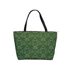 Damask Green Shoulder Handbags