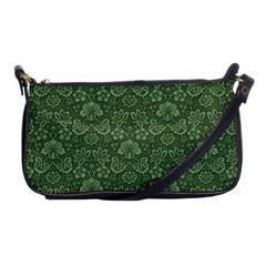 Damask Green Shoulder Clutch Bags