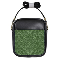 Damask Green Girls Sling Bags