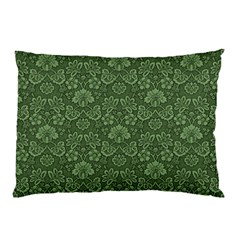 Damask Green Pillow Case (two Sides)