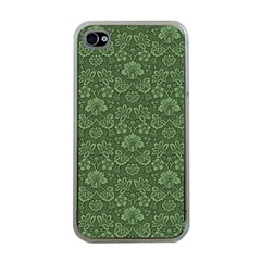 Damask Green Apple Iphone 4 Case (clear)