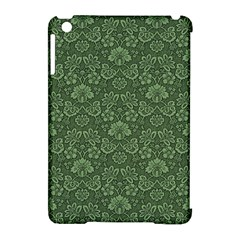 Damask Green Apple Ipad Mini Hardshell Case (compatible With Smart Cover)