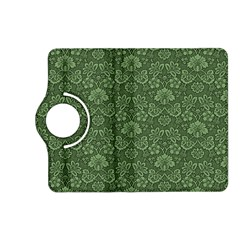 Damask Green Kindle Fire Hd (2013) Flip 360 Case