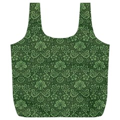 Damask Green Full Print Recycle Bags (l)