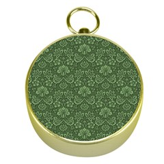 Damask Green Gold Compasses