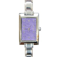 Knitted Wool Lilac Rectangle Italian Charm Watch