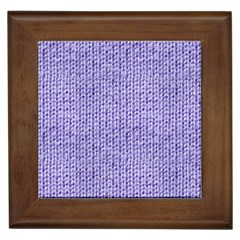 Knitted Wool Lilac Framed Tiles