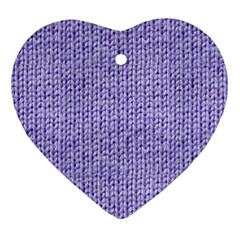 Knitted Wool Lilac Ornament (heart)