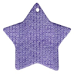Knitted Wool Lilac Ornament (star)