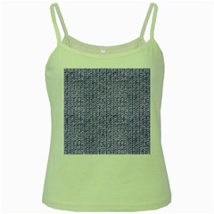 Knitted Wool Lilac Green Spaghetti Tank